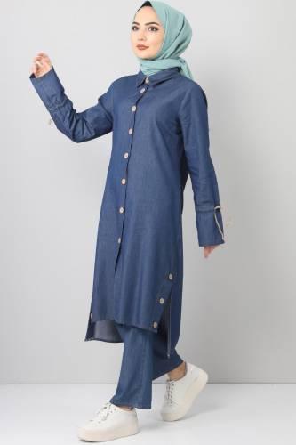Jeans Suit TSD0454 dark Blue2 - Thumbnail