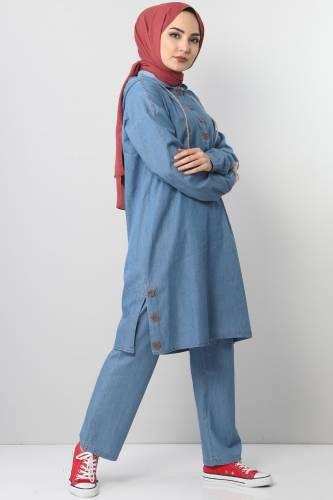 Jeans Suit TSD0454 Light Blue - Thumbnail