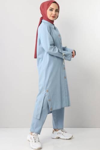 Jeans Suit TSD0454 light Blue2 - Thumbnail