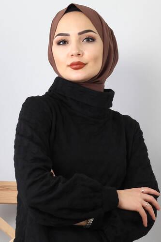 Kabartma Puantiyeli Kapitone Elbise TSD0075 Siyah - Thumbnail