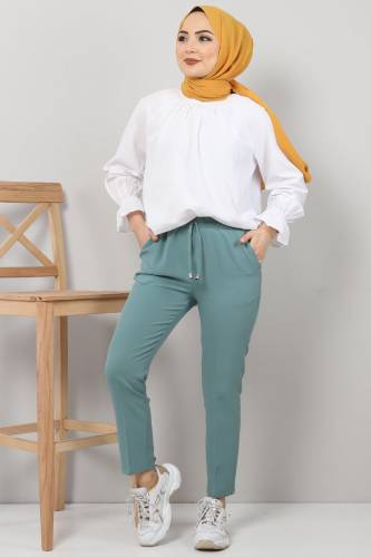 Tesettür Dünyası - Pencil Trousers TSD0222 Mint
