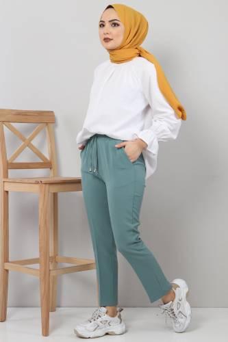 Tesettür Dünyası - Pencil Trousers TSD0222 Mint (1)