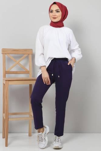 Tesettür Dünyası - Pencil Pants TSD0222 Purple