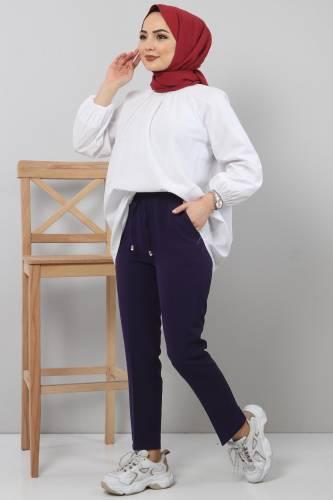 Tesettür Dünyası - Pencil Pants TSD0222 Purple (1)