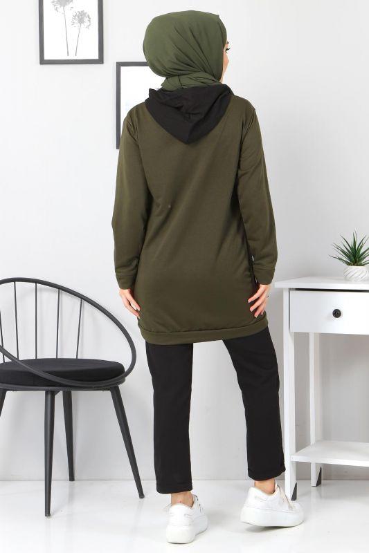 Kanguru Cepli Sweatshirt TSD3320 Haki