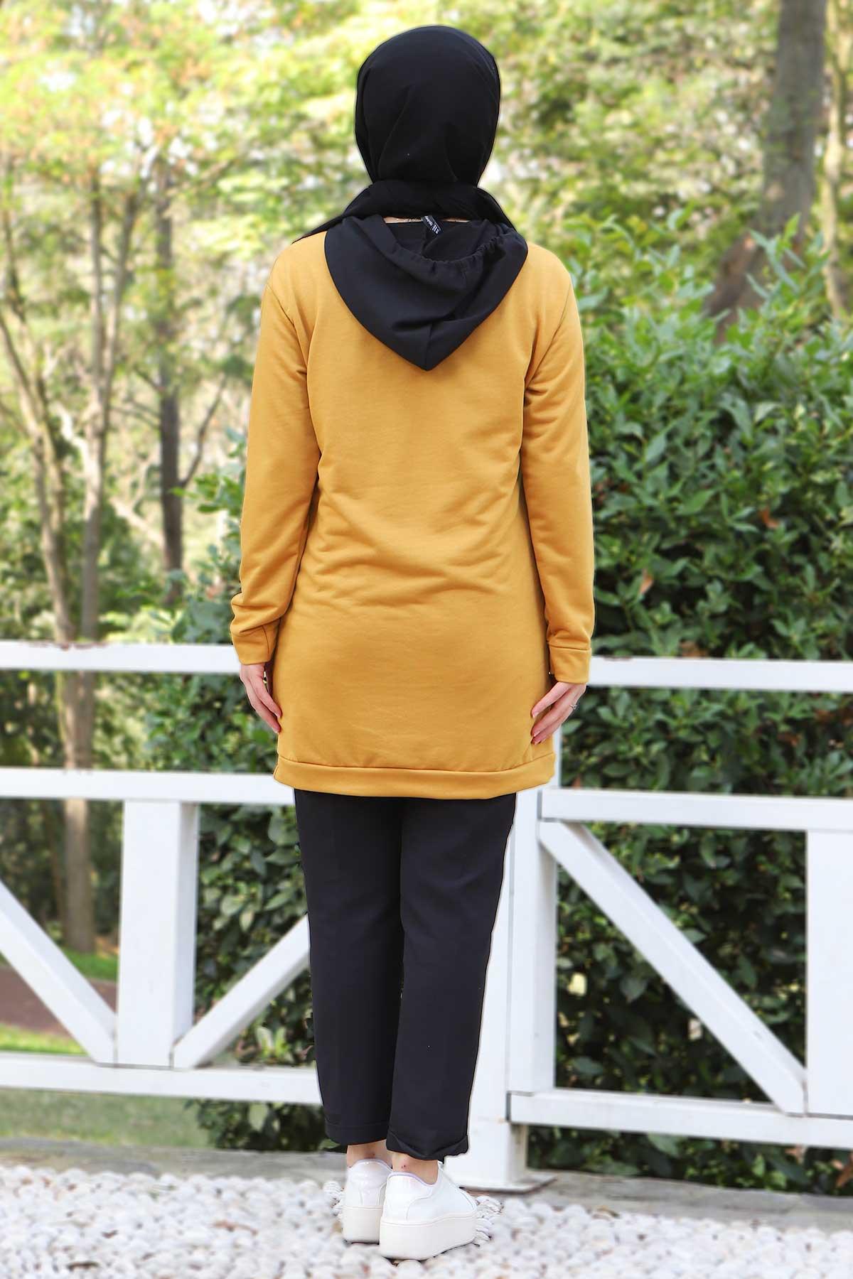 Kanguru Cepli Sweatshirt TSD3320 Hardal