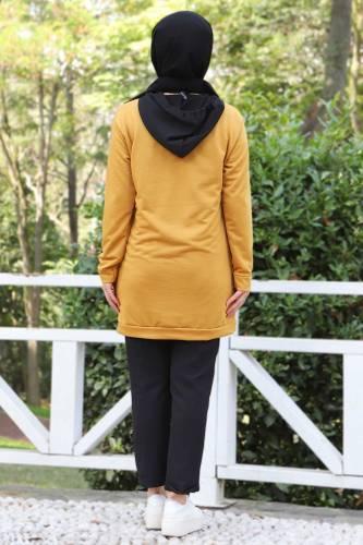 Kanguru Cepli Sweatshirt TSD3320 Hardal - Thumbnail