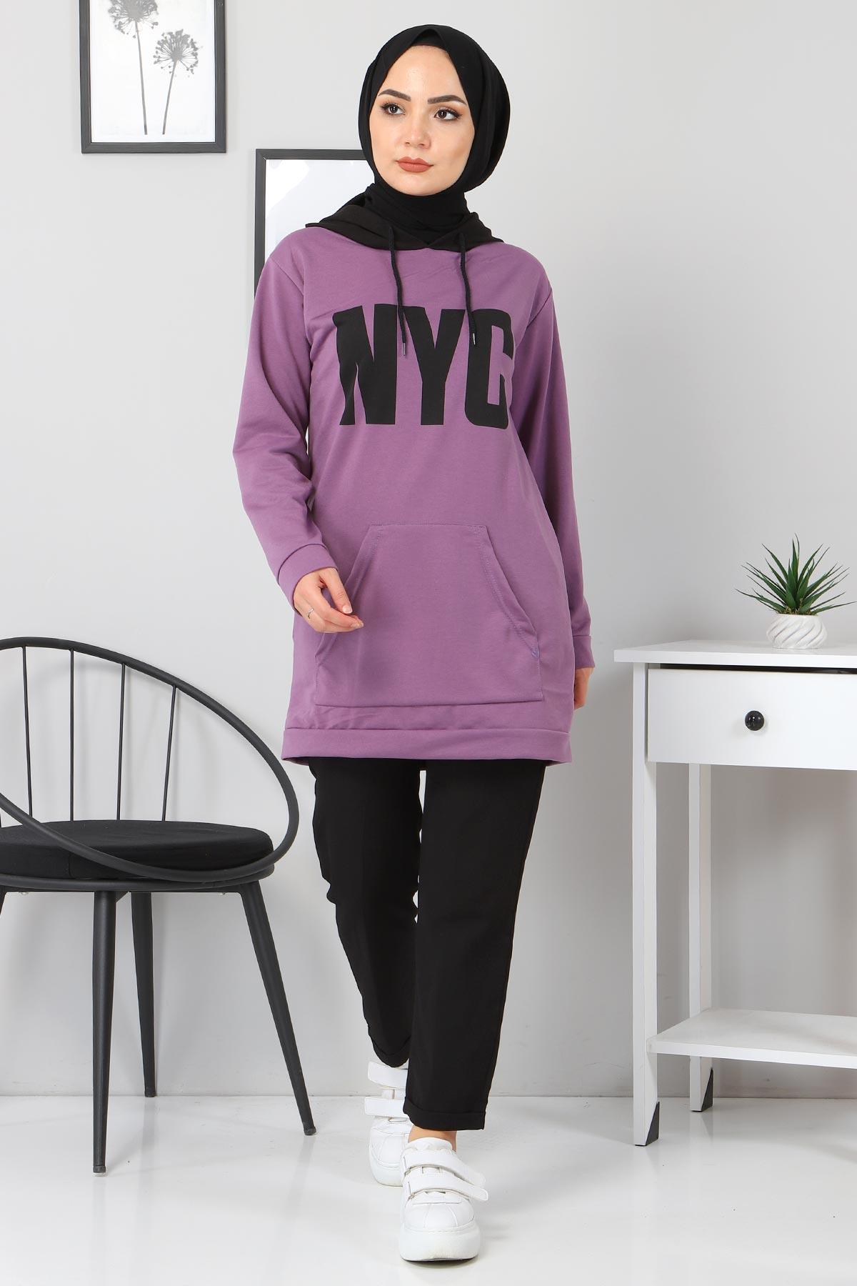 Kanguru Cepli Sweatshirt TSD3320 Lila
