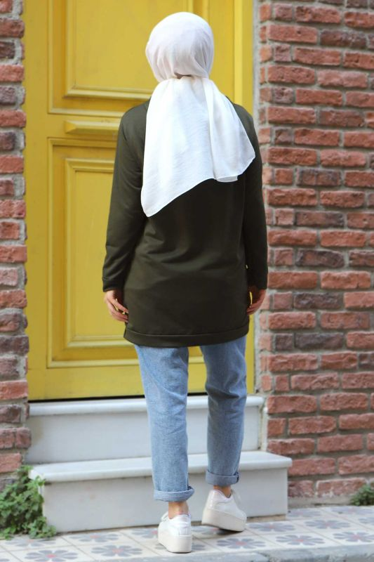 Kapşonlu Sweatshirt TSD3318 Haki