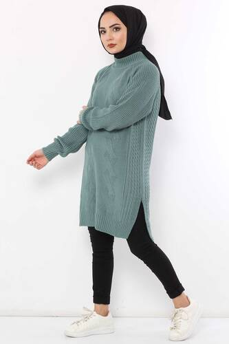 Knitting Sweater TSD3648 Mint - Thumbnail