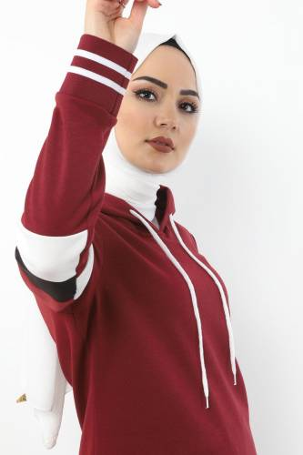Tesettür Dünyası - Double Suit TS10481 Claret Red (1)