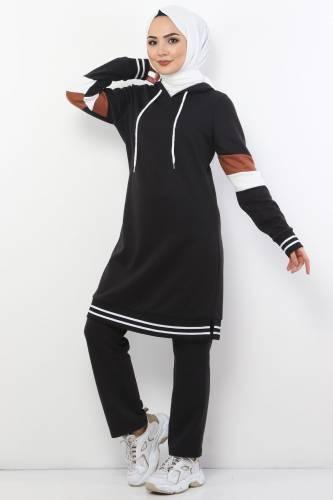 Tesettür Dünyası - Double Suit TS10481 Black