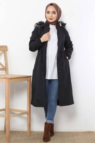 Laced Waist Coat TSD3010 Black. - Thumbnail