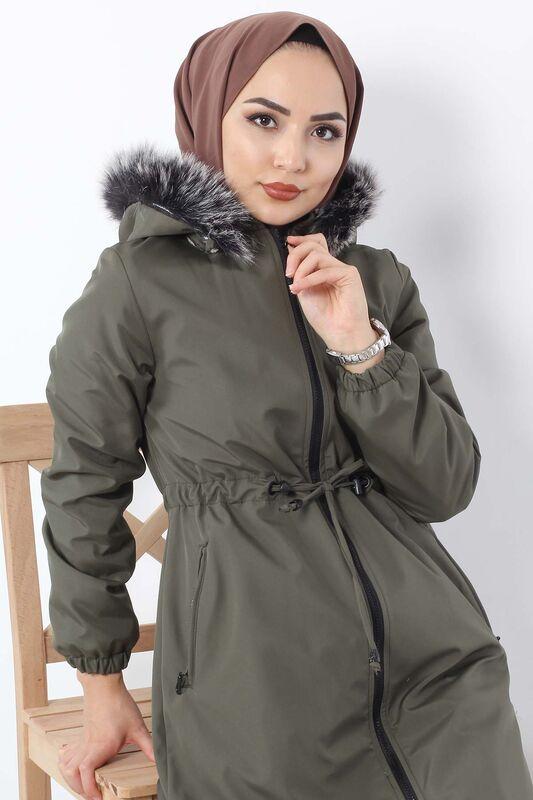 Laced Waist Coat TSD3010 Khaki.