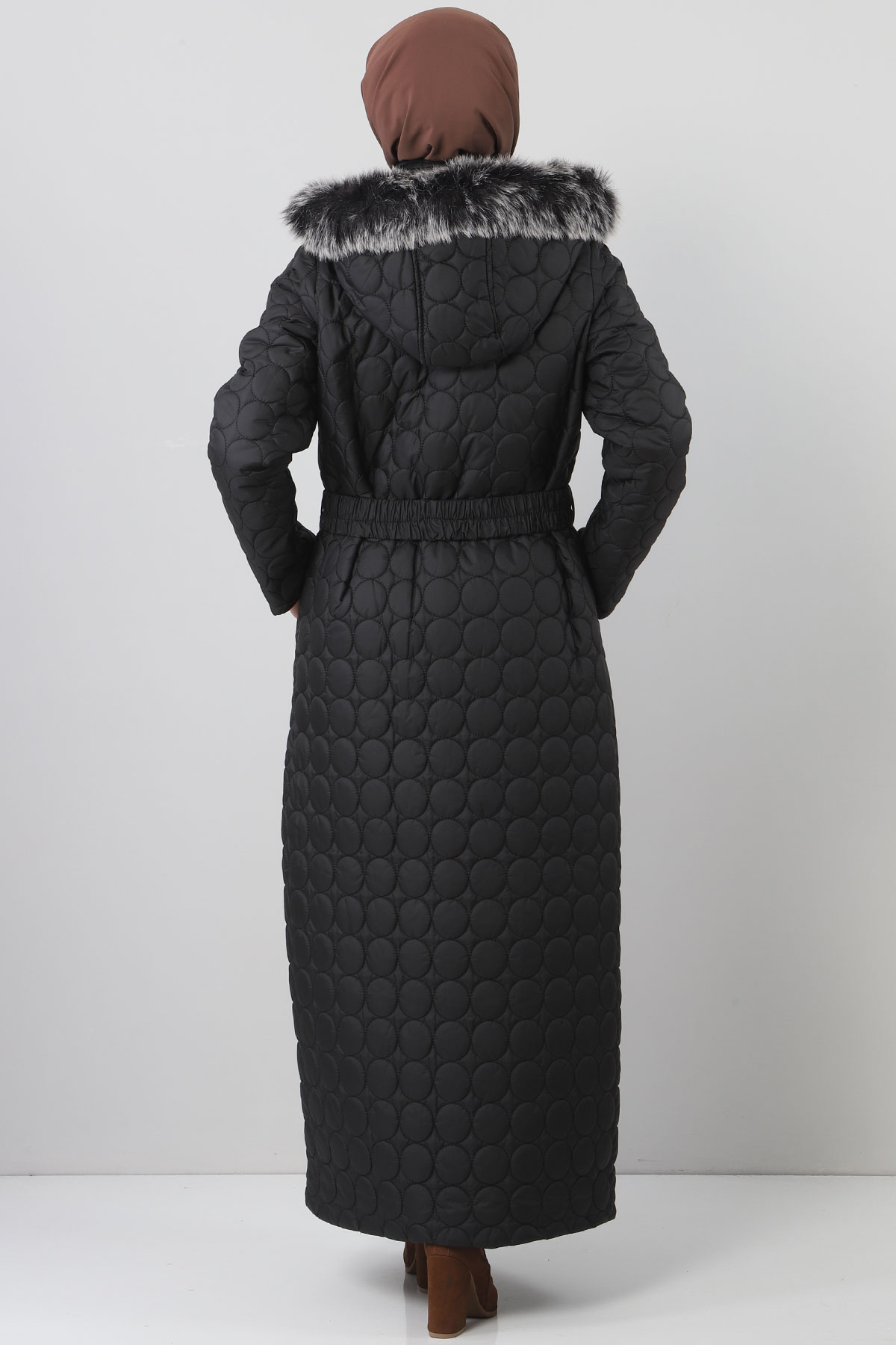 Large size quilted coat TSD1566 black