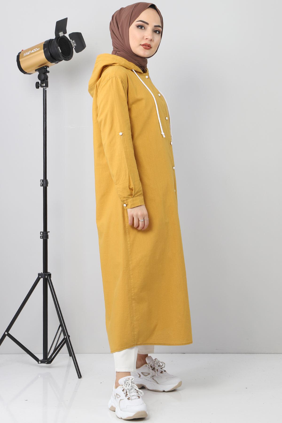 Linen Sports Cap TSD8198 dark yellow