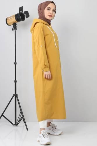 Linen Sports Cap TSD8198 dark yellow - Thumbnail