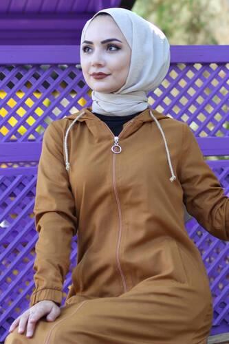 Long Hijab Cap TSD0097 nude - Thumbnail