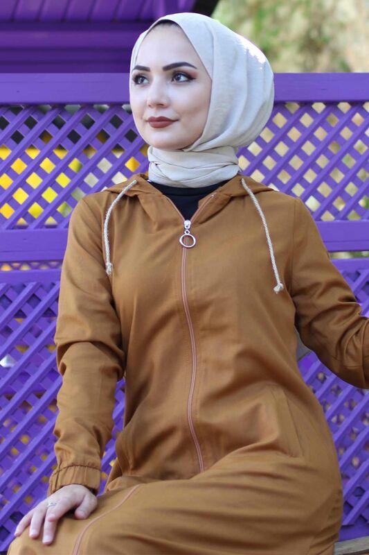 Long Hijab Cap TSD0097 nude