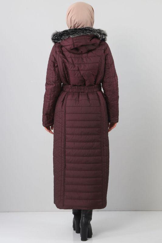 Long Padded Coat TSD0887 Purple