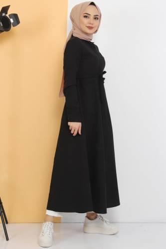 Long Tunic TSD2738 Black - Thumbnail