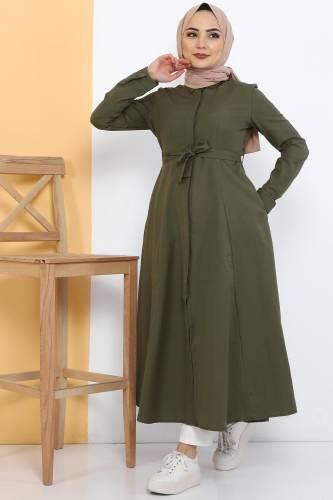 Long Tunic TSD2738 Khaki - Thumbnail