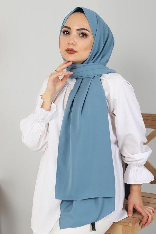 Medine İpeği Şal S001 Mavi