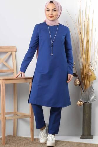 Necklace Double Suit TSD1121 BLUE - Thumbnail