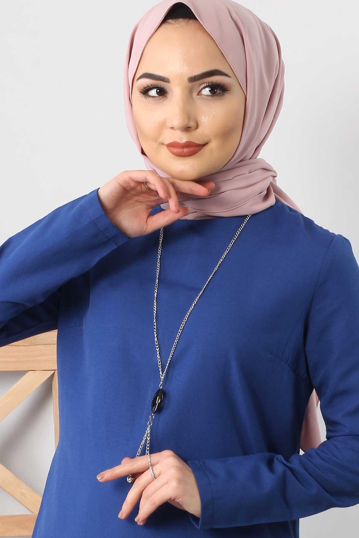 Necklace Double Suit TSD1121 BLUE