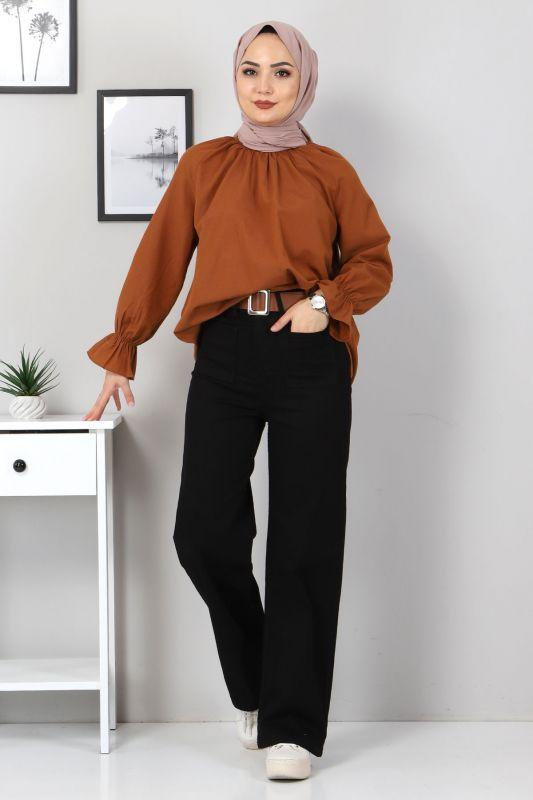 Ön Cep Detaylı Pantolon TSD9902 Siyah