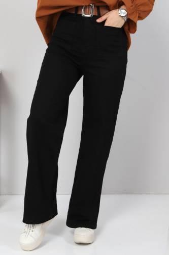 Tesettür Dünyası - Ön Cep Detaylı Pantolon TSD9902 Siyah (1)