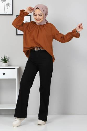 Ön Cep Detaylı Pantolon TSD9902 Siyah - Thumbnail
