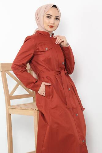 Ornamental Pocket Trench Coat TSD2245 Tile - Thumbnail