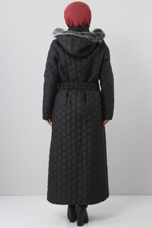 Oversized quilted coat TSD1877 black