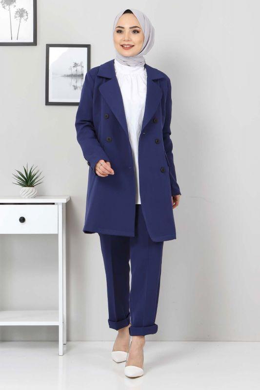 Pantolon Ceket İkili Takım TSD10754 İndigo