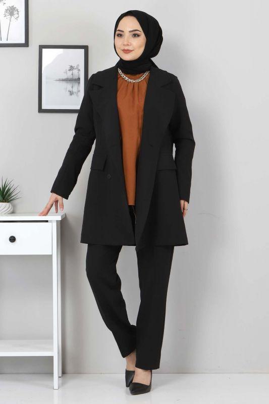 Pantolon Ceket İkili Takım TSD10754 Siyah