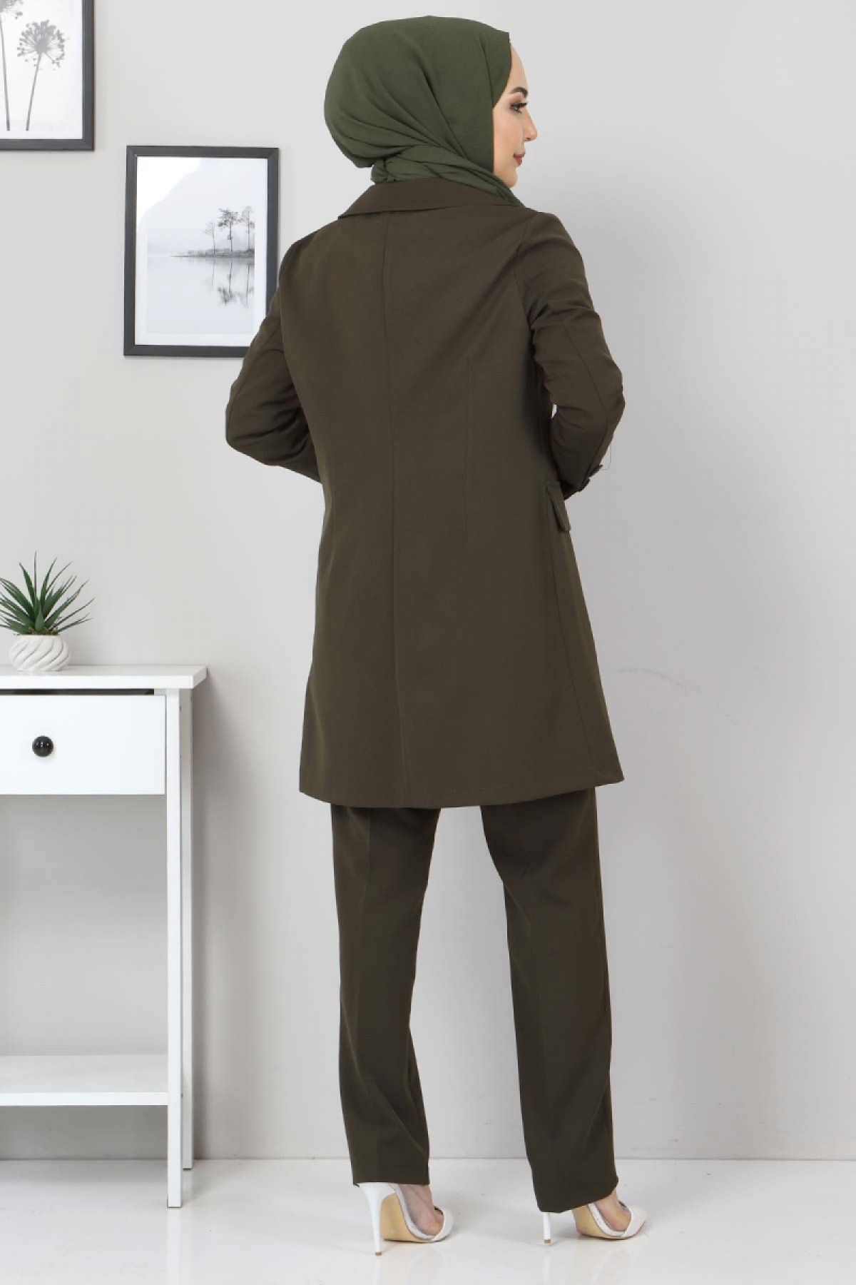Pantolon Ceket İkili Takım TSD10754 Haki