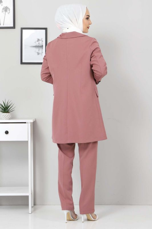 Pantolon Ceket İkili Takım TSD10754 Pudra