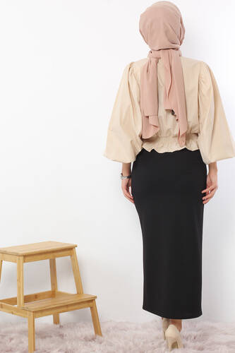 Pencil Skirt TSD0291 Black - Thumbnail