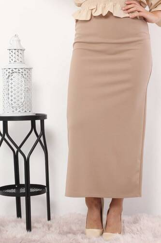 Pencil Skirt TSD0291 Mink - Thumbnail