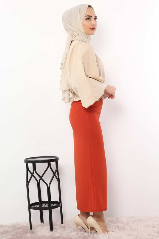 Pencil Skirt TSD0291 Orange