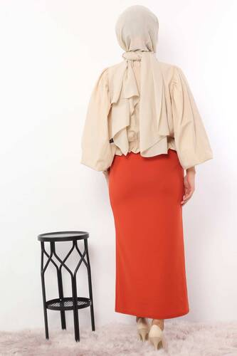 Pencil Skirt TSD0291 Orange - Thumbnail