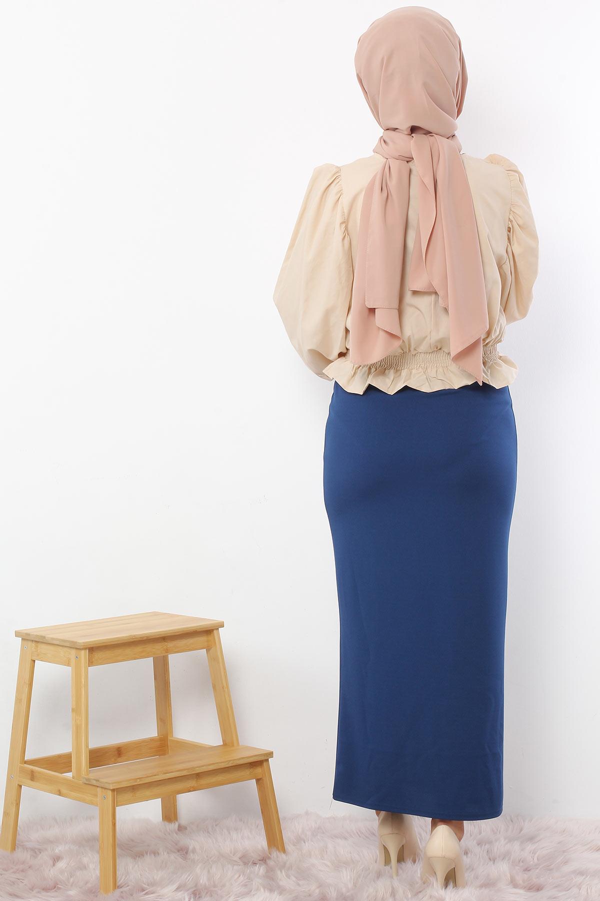 Pencil Skirt TSD0291 Petrol