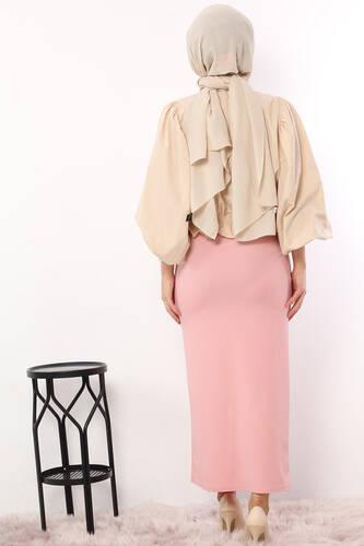Pencil Skirt TSD0291 Pink - Thumbnail