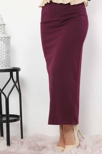 Pencil Skirt TSD0291 Plum - Thumbnail