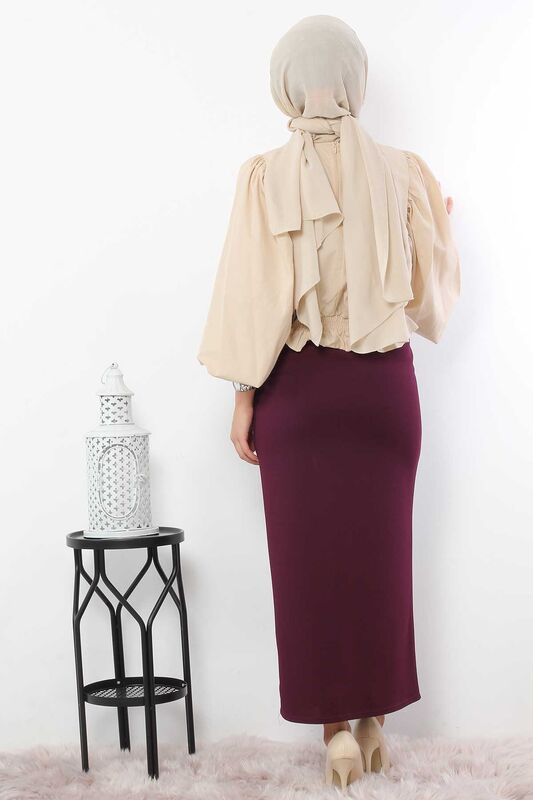 Pencil Skirt TSD0291 Plum