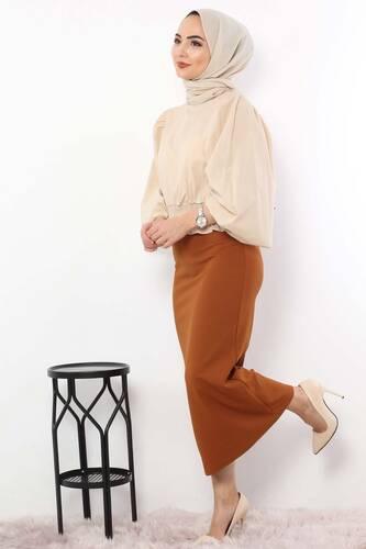 Pencil Skirt TSD0291 Tan - Thumbnail