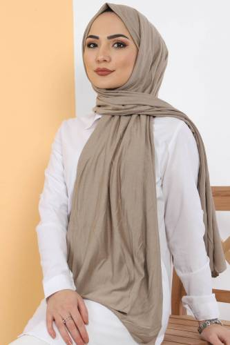 Tesettür Dünyası - Combed Shawl S005 Light Brown