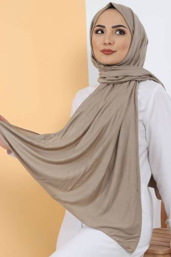 Tesettür Dünyası - Combed Shawl S005 Light Brown (1)
