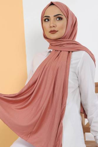 Tesettür Dünyası - Combed Shawl S005 Light Orange. (1)